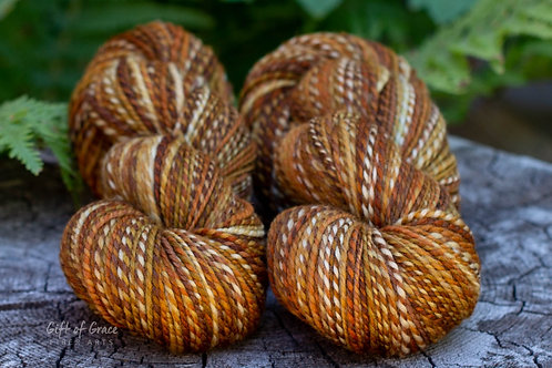 "2 Skeins Light Worsted Weight Polwarth ""Caramel Macchiato"""