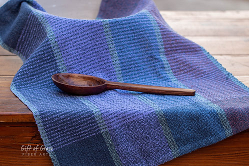 "Handwoven Cotton Bouclé Kitchen Towel ""Mountain"""