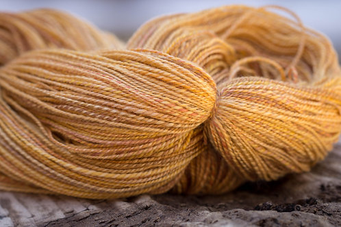 "OVERSIZED SKEIN--Sport Weight Merino/Tencel ""Golden Ruby"""