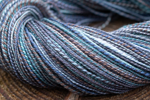 "Sportweight/Heavy Fingering Polwarth/Silk ""Waning Light"""
