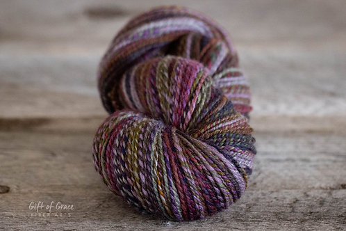 """HUGE Skein-Worsted Weight Weight Mixed BFL/Silk """"Cabbages & Kings"""""""