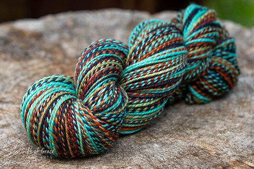 "DK Weight Polwarth/Silk ""Copper Canyon"""