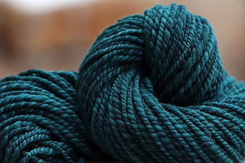 "Super Bulky Weight Polwarth/Silk ""Atlantic Deep"" (skein #2)"