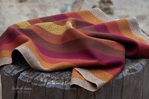"Handwoven Cotton Kitchen Towel ""Gathering"" #7"