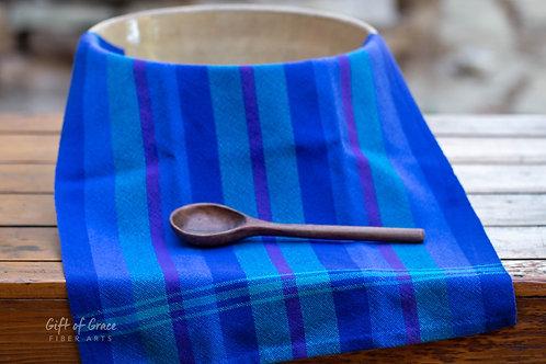 "Handwoven Cotton Kitchen Towel ""Seaside"""