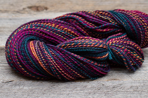 "Worsted Weight Polwarth/Silk (75/25) ""Escapade"""