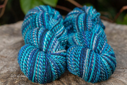 """2-Light Worsted Weight Falkland """"Calm in the Storm"""""""