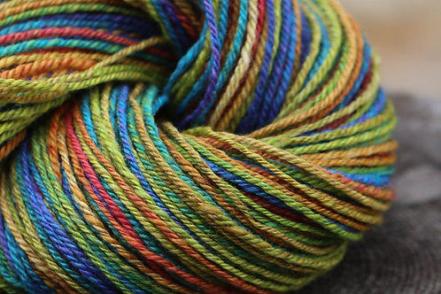 """Light Worsted Weight Mixed BFL """"Pretty Rainbow"""""""