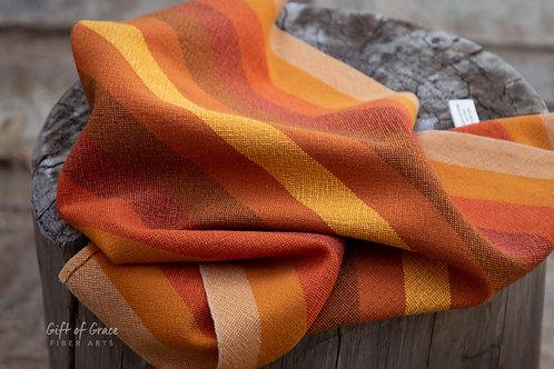 "Handwoven Cotton Kitchen Towel ""Gathering"" #1"
