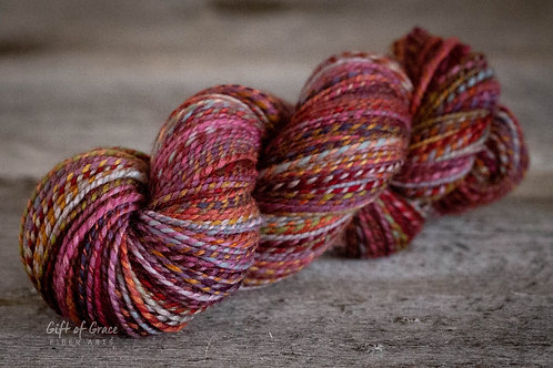 "Oversized  Skein--Worsted Weight Mixed Fibers ""Reflections"""