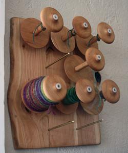 Cherry Wood Bobbin Rack