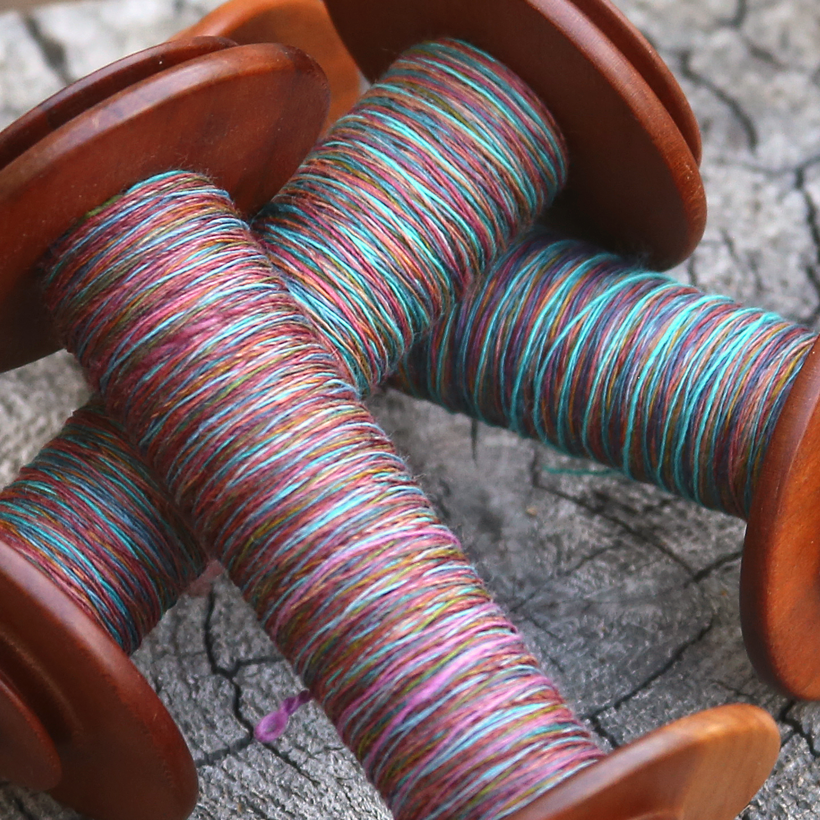 TWF Mahogany & Blue on Bobbins