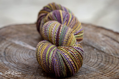 "OVERSIZED Skein--Sport Weight Organic Polwarth/Silk ""Mardi Gras"""
