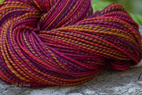 "SUPER-SIZED Worsted Weight South African Superfine ""Deep Autumn"""