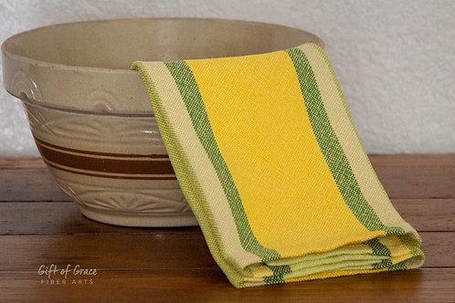 """Handwoven Cotton Kitchen Towel """"Springtime"""""""