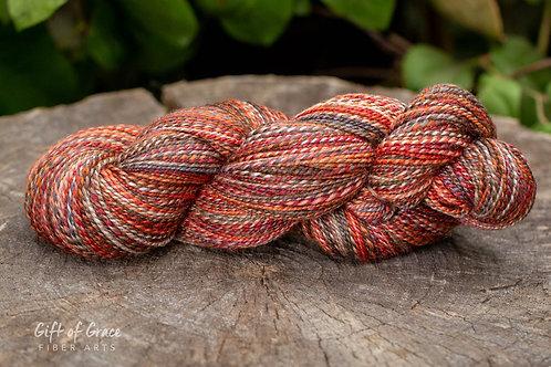 """Fingering Weight Polwarth/Silk (60/40) """"Harvest"""""""