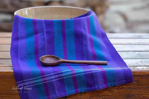 "Handwoven Cotton Kitchen Towel ""Seaside"""