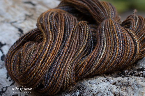 "Worsted Weight BFL/Silk""Sweet Tortie"""