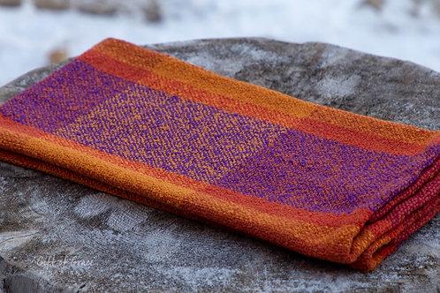 """Handwoven Cotton Bouclé Kitchen Towel """"Hearth"""" #1"""