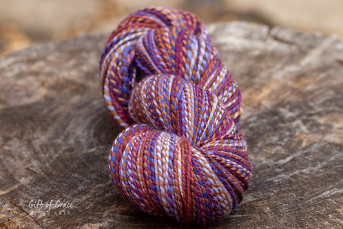 "Worsted Weight Polwarth ""Plum and Periwinkle"" (skein #2)"