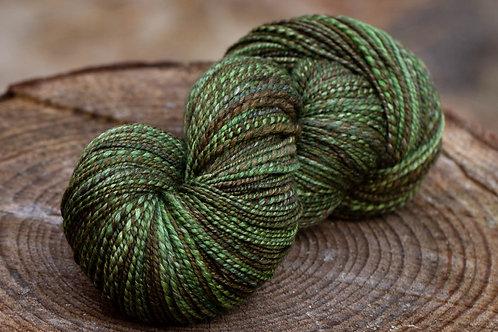 "DK Weight Polwarth/Silk (60/40) ""Mossy Forest"""