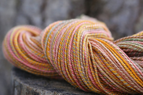 "Light Worsted Weight Polwarth ""She's a Peach"" (skein #2)"
