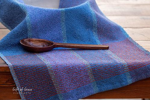 """Handwoven Cotton Bouclé Kitchen Towel """"Mountain"""""""