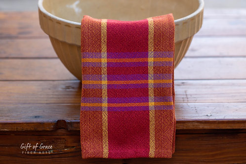 "2 Handwoven Cotton Kitchen Towels ""Gathering"" (ver. 2)"