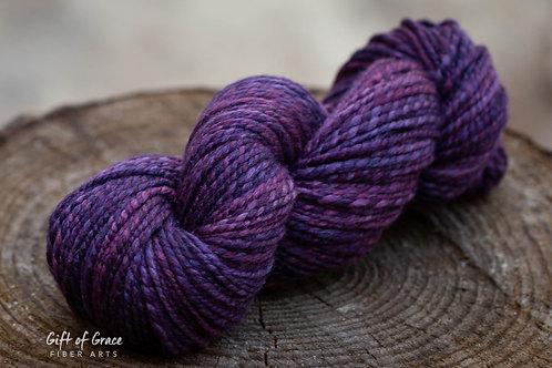 "Bulky Weight SW Merino/Merino/Silk ""August Violet"""