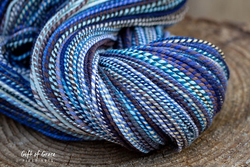 """Worsted Weight Organic Polwarth """"Sea Storm"""""""
