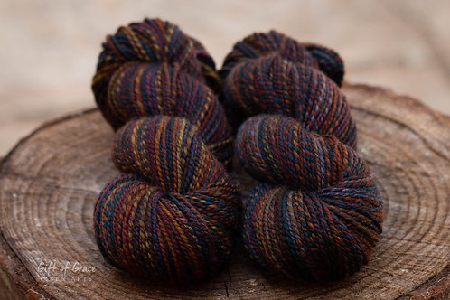 "Light Worsted Weight Mixed BFL ""African Sunset"""