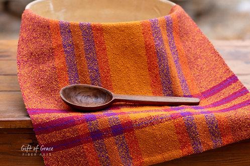 """Handwoven Cotton Bouclé Kitchen Towel """"Hearth"""""""