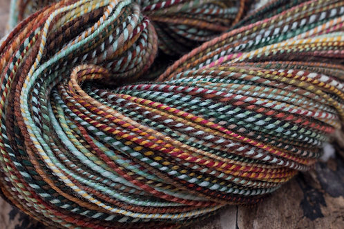 "Sport Weight Organic Polwarth ""Winter Warmer"" (skein #3)"