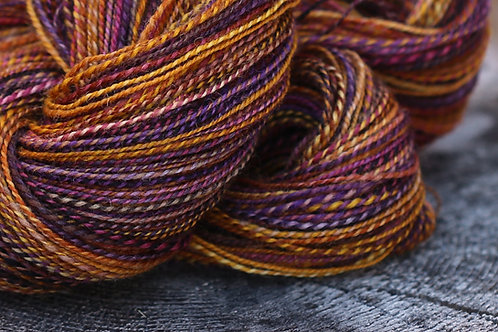 "Fingering Weight Kent Romney Lambswool ""Color and Spice"""