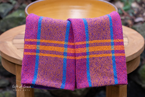"""2 Handwoven Cotton Kitchen Towels--""""Welcome Home"""""""