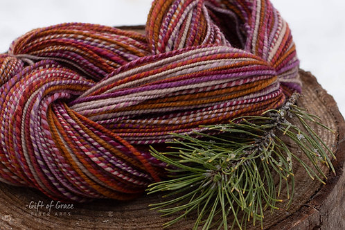 "Worsted Weight Organic Polwarth ""Yuletide"""
