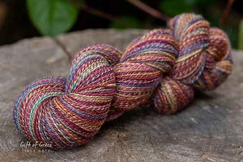 """Fingering Weight Mixed BFL/Silk """"Complicated Soul"""""""