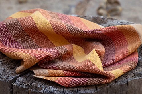 "Handwoven Cotton Kitchen Towel ""Gathering"" #3"