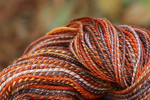 "Light Worsted Weight Polwarth/Silk ""Fleeting Moments"" (skein #1)"