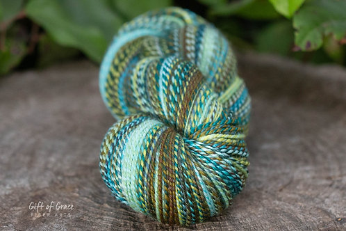 "OVERSIZED DK Weight Polwarth/Silk (60/40) ""Dryad"""
