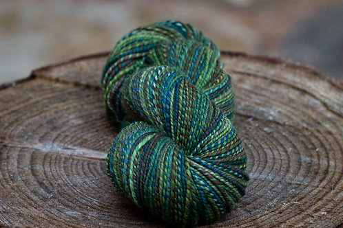 """Light Worsted Weight Polwarth/Silk """"Coffee by the Lake"""""""