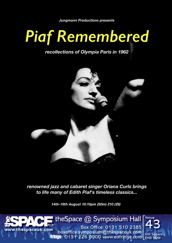 Piaf Remembered at the Edinburgh Festival