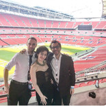 Performing at the legendary Wembley Stadiu