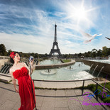 Performing at the Eiffel Tower for the premiere of 'The Eagle' movie
