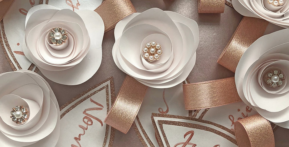 Personalised floral place settings
