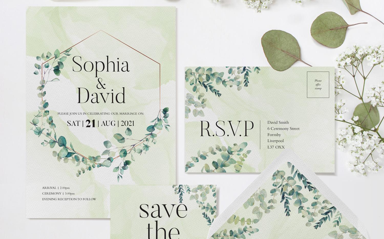 Eucalyptus Wedding Stationery (Green)