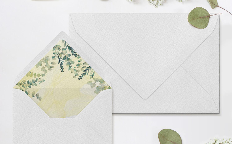 Eucalyptus Envelopes & Liners (Yellow)