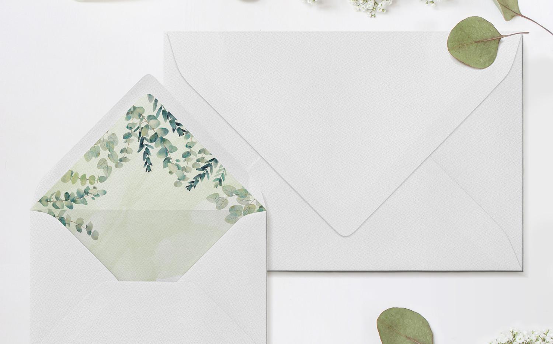 Eucalyptus Envelopes & Liners (Green)