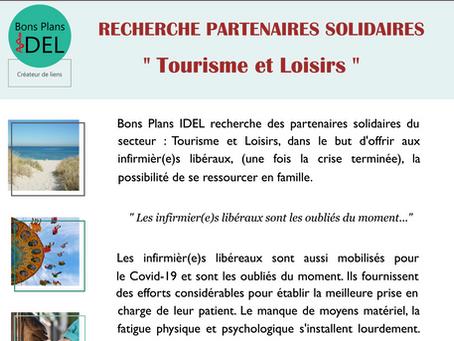 Actu : Recherche de partenaires solidaires ''Tourisme et Loisirs'' pour les infirmier(e)s libéraux.