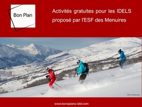Activités gratuites pour les IDELs, proposé par l'ESF Les Menuires.